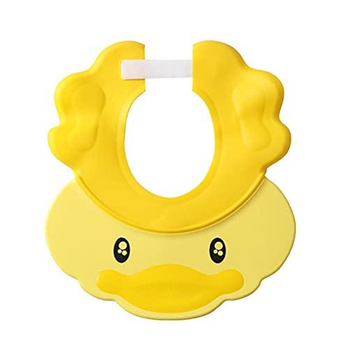 Rlevolexy Gorro de ducha ajustable de silicona para bebé, gorro de baño con visera para proteger los ojos de los niños, niños y niñas