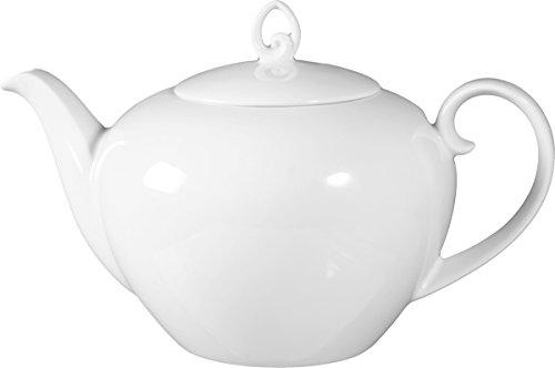 Seltmann 001.216674 Rondo/Liane Porzellan Teekanne, Rund, Weiß, 1,1L, 22,6cm Durchmesser, 15cm Höhe