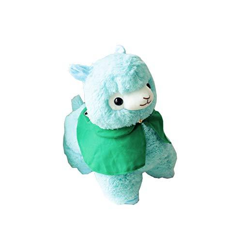 Morbuy Peluche Relleno, Alpaca de Peluche Amarillo con Capa, Juguete de Peluche Suave Lindo Animals 35cm, Mejores Regalos para niños (Cielo azul-35cm)