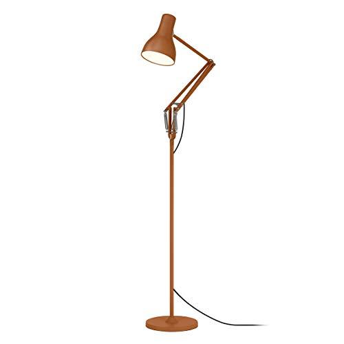 Anglepoise - Lámpara de pie, aluminio cromado hierro, estampado sienna, Schirmhöhe 19 x Schirmdurchmesser 14 x Fußdurchmesser 25 x Armlänge 34,6 x Höhe bis oberer Arm 91 cm