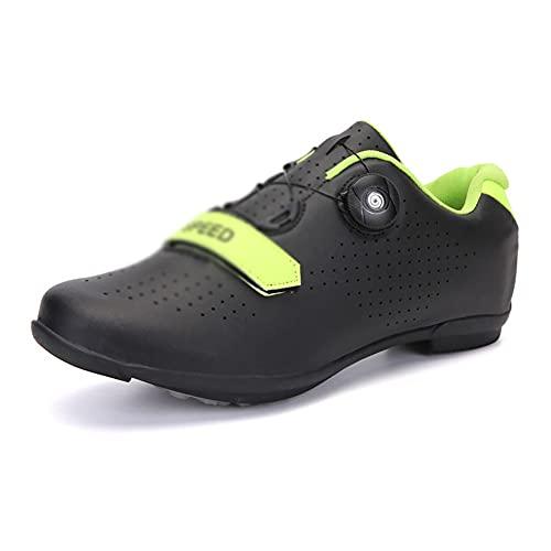 LIXIAOHONGG Zapatillas De Ciclismo para Carretera,Zapatos De Bicicleta De Montaña Hombre,para Carretera, con Suela De Carbono Resistente Al Viento Transpirable con Plantilla De Amortiguación