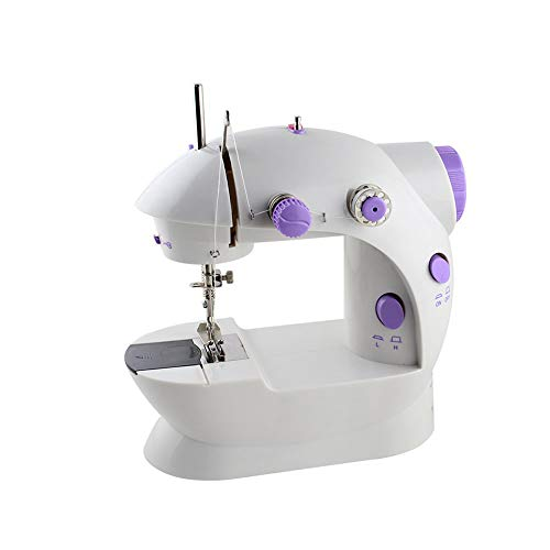 RZChome Portable Mini Sewing Machine Easy to Use for Beginners Speed Double Thread with Foot Pedal Handheld Sewing Embroidery Machine, Straight Sewing