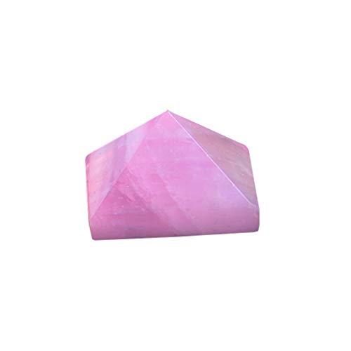 ZTTT 1 stück Natürlicher Kristall Amethyst Rose Quarz Pyramiden Handgemachte Schnitzerei Creme Crystal Kann für Dekorationsgeschenke verwendet Werden (Color : Rose Quartz)