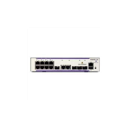 Alcatel-Lucent OS6450-10 OS6450-10 Gigabit Ethernet standalone chassis biedt 8 RJ-45 10/100/1000 BaseT, 2 SFP / RJ-45 10/100/1000 BaseT of 100/1000 BaseX combo en 2 SFP Gigabit uplinks-poorten. 1U met 1/2 rack-vormfactor, interne AC-voeding, ventilator minder. Bestel 19 rackmontagekits en licenties voor metrodiensten afzonderlijk. Inclusief netsnoer van de Verenigde Staten, handleidingen / toegangskaarten voor software, RJ-45 naar DB-9-adapters en rubberen tafelvoeten.