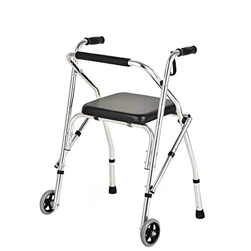 LFLLFLLFL Anitin Fall Walker para Ancianos, Ancianos Material De Aleación De Aluminio Duradero 31,1 '' - 35 '' Altura Ajustable Ajuste De Espuma Gruesa