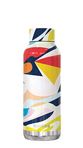 Quokka Solid - Abstract 510 ML   Botellas De Agua Acero Inoxidable Sin BPA  Botella Térmica De Doble Pared - Mantiene el frío y el Calor para Niños y Adultos