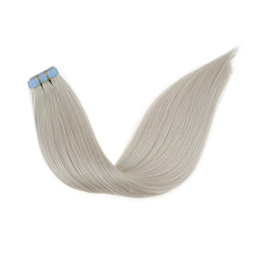 LaaVoo Platinum Blonde Straight Grade 7A Hair Extensions