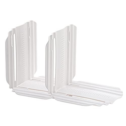 Angoily 2 Piezas Estante Divisor Vertical Armario Organizador Refrigerador Tablero de Partición Extensible Estante de Almacenamiento para Gabinetes de Cocina Armarios Estantería Blanco