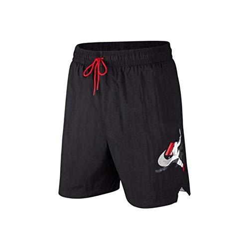 NIKE M J 7' Jumpman Poolside Short, Hombre, Black/Gym Red/White, L