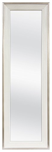 MCS 12x48 Inch Over the Door Mirror, 18x54 Inch Overall Size, White...