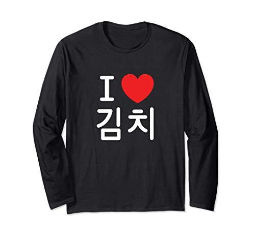 Me encanta la comida coreana Kimchi Manga Larga