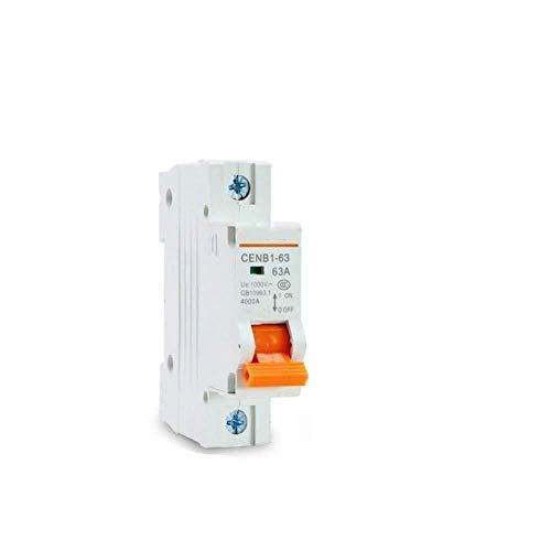 Disyuntor doméstico Disyuntor en miniatura 1P DC 1000V Interruptor solar DC disyuntor Mcb 10A 20A 16A 25A 32A 40A 50A 63A Para energía solar Pv-A_40A amperaje-A_Corriente de tasa 25A