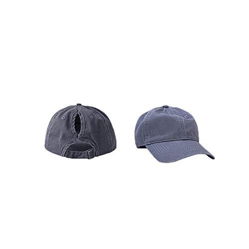 Juudoiie Vintage viejo lavado vaquero sombrero de béisbol hombres y mujeres calle todo coincidencia ligero tablero de luz Curved salto hip-hop cap de pareja sombrero al aire libre deportes sombrero