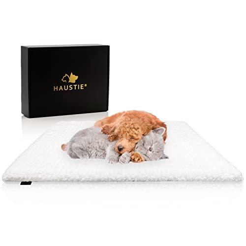 HAUSTIE® Selbstwärmende Decke für Katzen & Hunde - Extra Dick & Weich - rutschfest - Leicht Waschbar (61x49 cm)