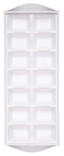 KitchenCraft Vassoio in Plastica per Cubetti di Ghiaccio, Bianco, per 14 Pezzi