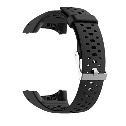 Meiruo Armband für Polar M400, Silikon Ersatzband für Polar M400 (Schwarz)