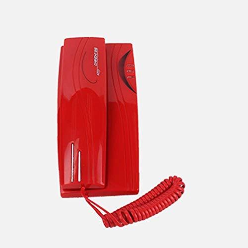 YUBIN Teléfono Teléfono Montado en la Pared Pequeña Sub-Machine Head Dormitorio Hotel Club-Montado Teléfono Fijo Línea Fija (Color: Rojo)