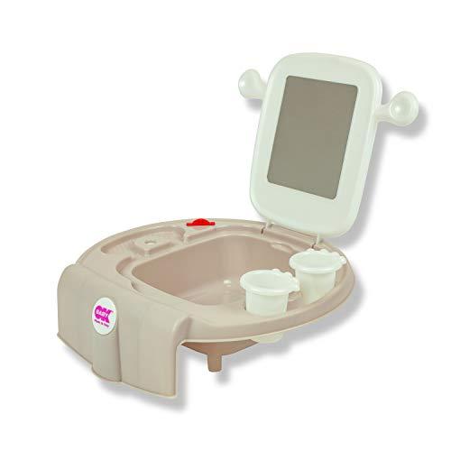 OKBABY Space - Mini lavabo para niños, se fija a la bañera o al bidé - Gris