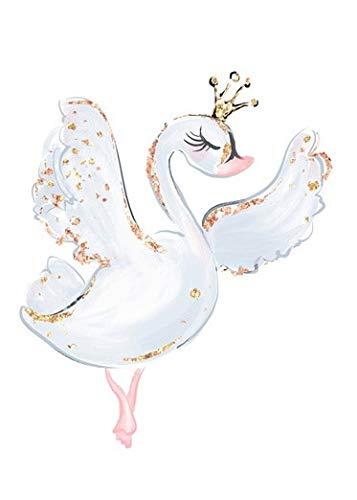Cute dibujos animados ballet dance girl imagen dulce decoración del hogar nórdico sin marco lienzo pintura arte de la pared cartel rosa imprimir dormitorio de la niña I1 40x60cm sin marco