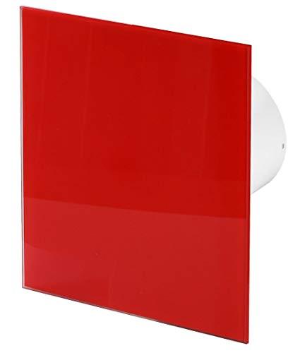 125mm Feuchtigkeitssensor Dunstabzugshaube Rot Glänzendes Glas Frontblende TRAX Wand Decke Belüftung
