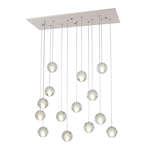 Chandelier Crystal Ball Chandeliers dimmable with Remote Control Ceiling Lighting Restaurant Living Room Light Bulb Including,3W