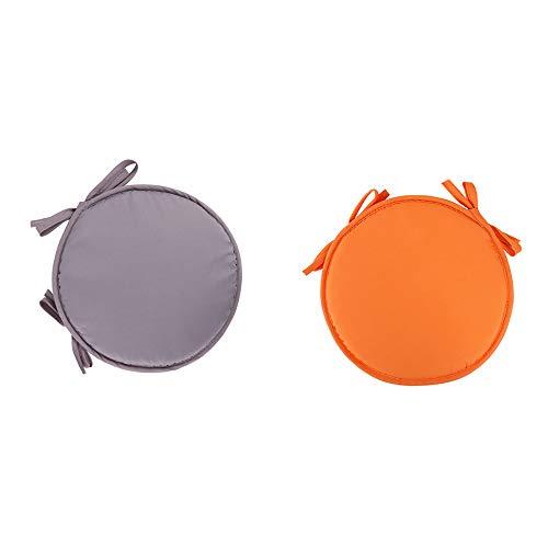 Lot de 2 coussins ronds en polyester pour chaise de bureau, de jardin, intérieur ou extérieur