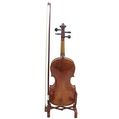 XuBa Tragbarer, verstellbarer und faltbarer Musikinstrumentenständer mit Bogenhalter für Violinenständer