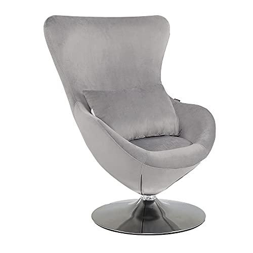 Mingone Drehstuhl Drehei Stuhl Liegestuhl Einzelsofa Samt Club Sofa Cocktail Stuhl Retro-Design mit...