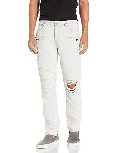 Hudson Jeans Herren The Blinder Biker Jeans, Weiß extrahiert, 54