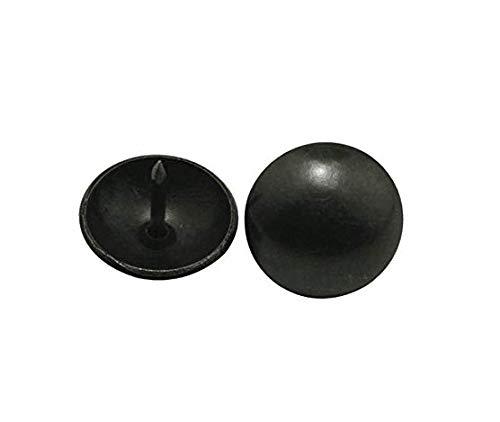 Wuuycoky - Clavo redondo de cabeza grande (19 mm de diámetro), color negro