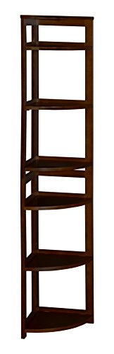 Regency Flip Flop 67-inch High Corner Folding Bookcase- Mocha Walnut