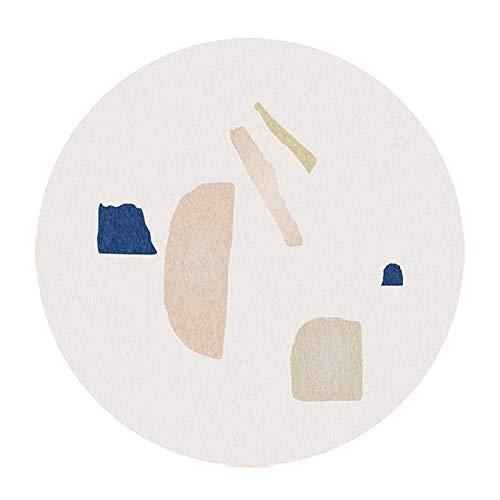 DENG Alfombrilla para Silla De Ordenador, Alfombrillas De Protección para El Suelo para Silla Rodante, Alfombrilla para Silla De Ordenador para Juegos, Alfombra Redonda(Size:120cm/47.2in,Color:mi)