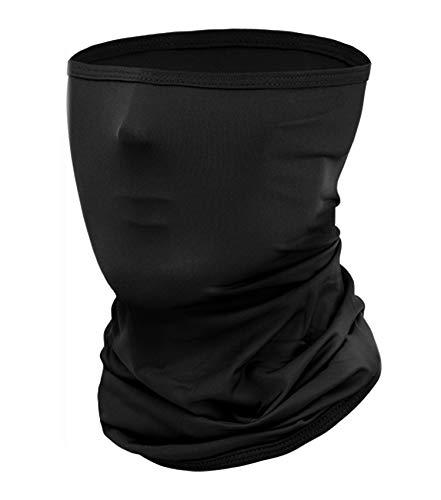 chivving Bandana Multifunktionstuch Cap Kopftuch, Stirnband, Halstuch Outdoor Staubschutz Mund-Tuch Schlauchschal Halstücher, Atmungsaktiv, Schwarz
