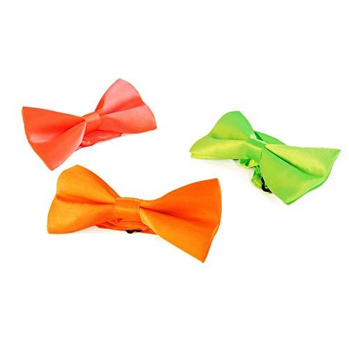 Eventlights NEON Fliegen - 3 Stück Set - Leuchten im Schwarzlicht - UV aktiv - pink, orange, grün