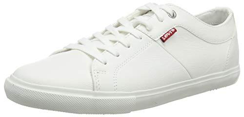 Levi's Woods, Baskets Hommes, Blanc (B White 50), 44 EU