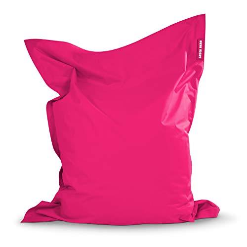 Green Bean © Square XXL Riesensitzsack 140x180 cm - 380L - Indoor Outdoor - waschbar, ergonomisch, doppelt vernäht, extrem robust, Abnehmbarer Bezug - Sitzsack Sessel für Kinderzimmer - Pink