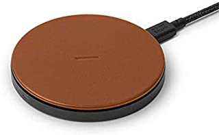 Native Union Classic Leather Wireless Charger – High-Speed [Qi Certified] 10W Handcrafted Italian Leather Charging pad – C...