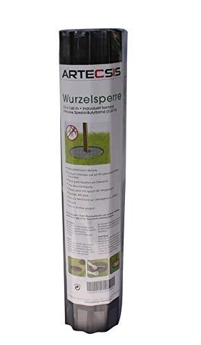 ARTECSIS 1x Wurzelsperre 3,5 x 0,6 m, Wurzelbarriere gegen Wurzelwildwuchs, Rhizomsperre, Rasenkante, gewellt, schwarz