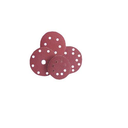 Flexovit 63642588512 Papierscheibe, Velgrip, P64E, 80 Körnungen, 125 mm Durchmesser, 100 Stück