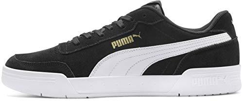PUMA CARACAL Shoe, Black White Team Gold, 8 M US