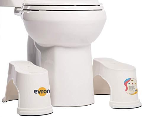 Evron,Potty Step,Toilet Stool Potty Bathroom Squatting Stool Healthier Way Toilet Posture Space Saver Stackable Toilet Stools,7