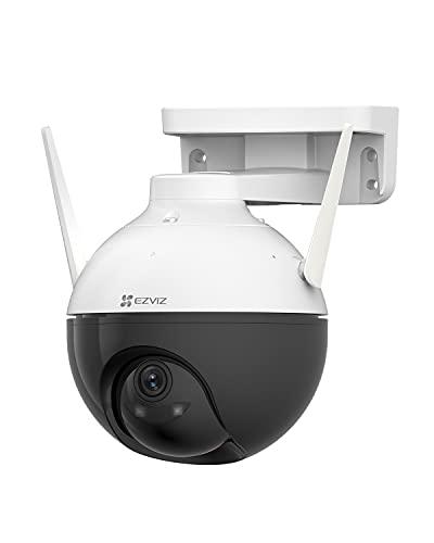 EZVIZ Cámara Domo de Vigilancia WiFi Exterior 1080P Cámara IP de Seguridad Pan/Tilt 360° Inalámbrica, AI Detección de Movimiento, Visión Nocturna de 30m, IP65 Impermeable C8C Lite