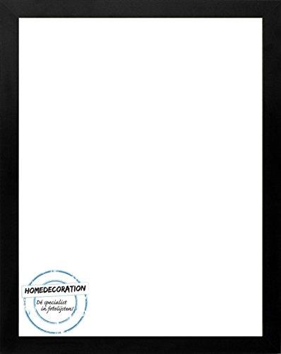 Homedecoration Cornice Misano 81 x 72 cm MDF, Cornice in Stile Moderno 72 x 81 cm, Colore selezionato: Nero Satinato con Vetro plastico antiriflesso 1 mm