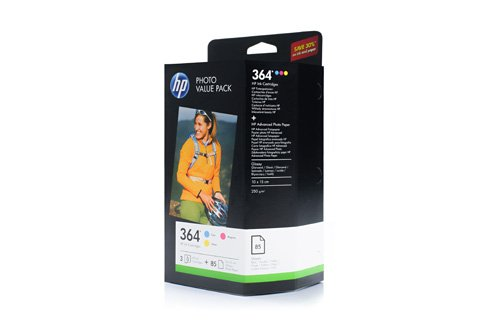 CH082EE HP Photosmart B8550 Tinta / Juego de papel cian magenta amarillo