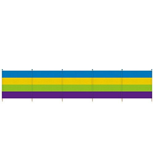 YELLO Unisexe 4épais à Rayures Brise-Vent, Multicolore, 4Pole