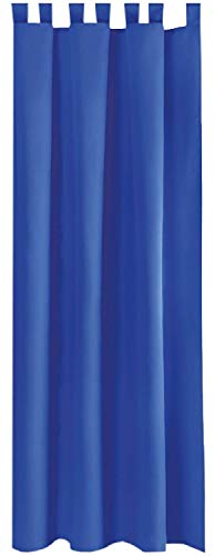 Bestlivings Blickdichte Blaue Gardine mit Schlaufen in 140x245 cm (BxL), in vielen Größen und Farben