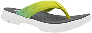 KazarMax XXIV Ladies's Lemon Turq Ombre Memory Foam Flip Flops