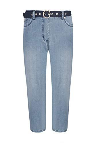 Million X Damen Jeans Linda Capri 42, Light Blue Denim