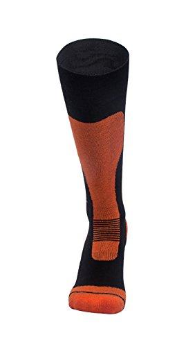 Barrageon Calze da Sci Uomo Donna Termiche Calde per Sci, Snowboard, Ciclismo, Trekking, Calze da Sport Invernali Controllo dell'umidità Anti-batterici Anti-Odore Nero-L