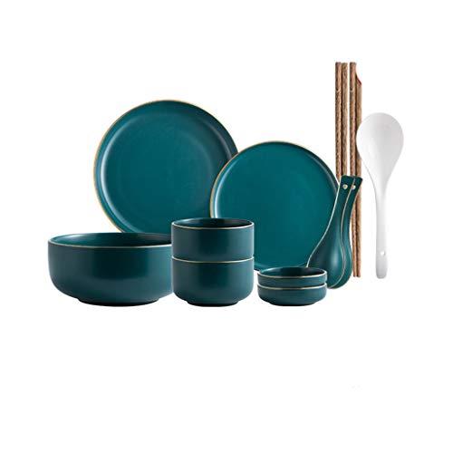 YWSZJ Juego de vajilla de cerámica nórdica, estilo moderno, estilo moderno, de gama alta, tamaño B12 piezas